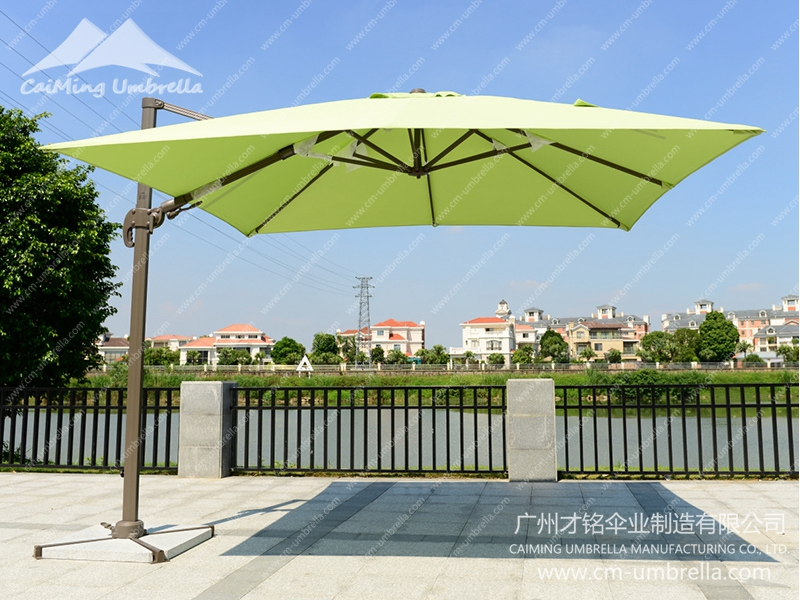 Aluminum Cantilever Square Umbrella