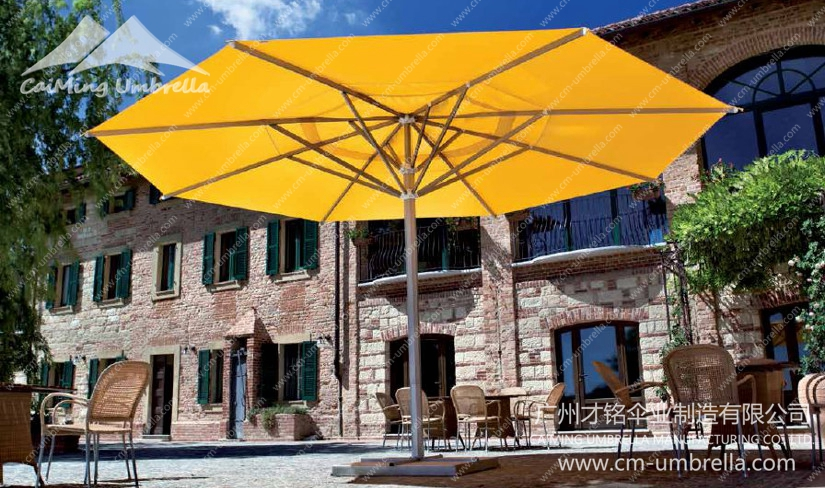 Aluminum Middle Column Round Umbrella Premium