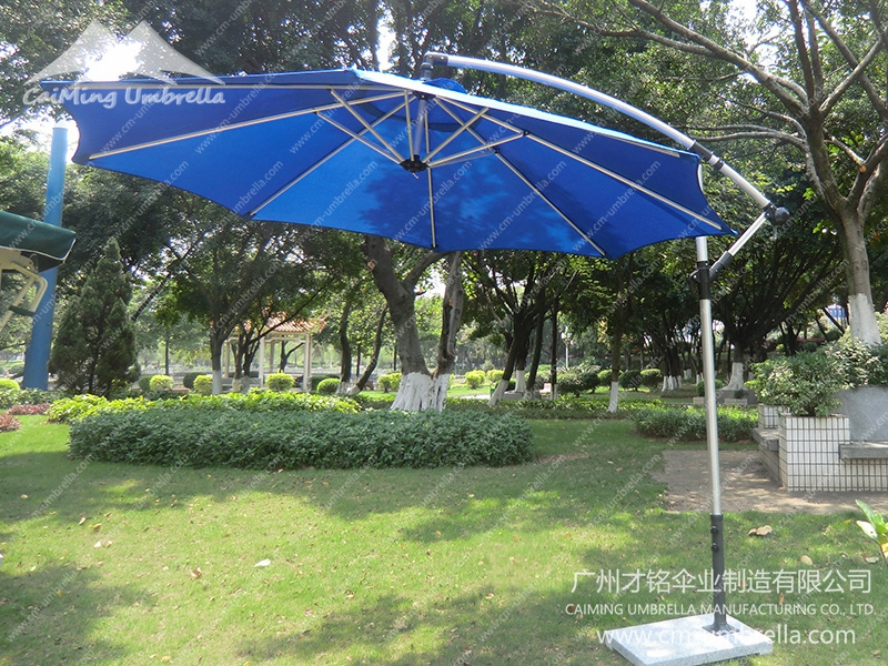 Banana Parasol Hanging Umbrella with white Pole