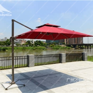 Aluminum Cantilever Square Double Umbrella