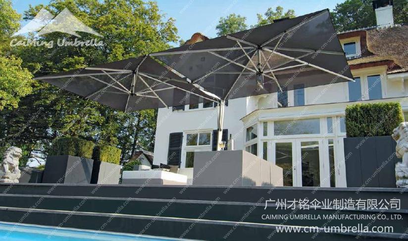 Multi-Aluminum Cantilever Square Umbrella Premium