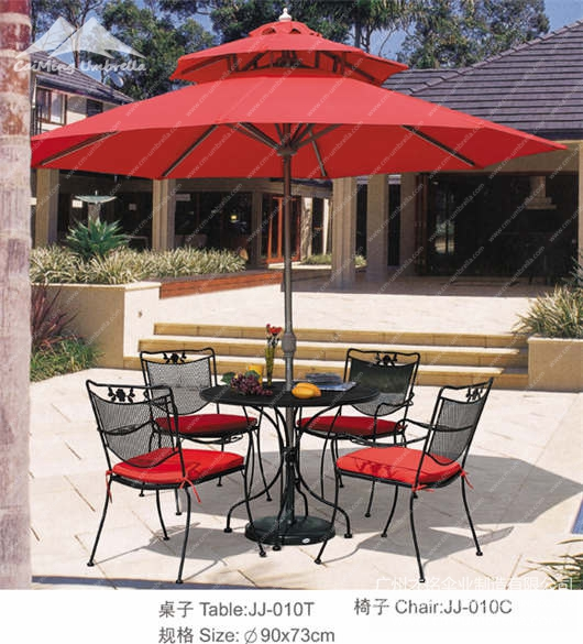 Aluminum Stele Umbrella Market Double Umbrella