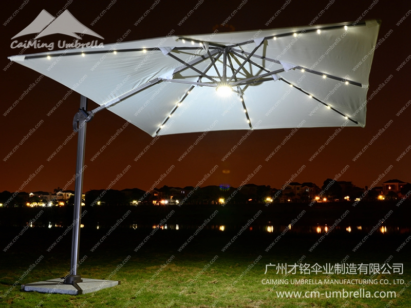 Patio Roman Umbrella with Led