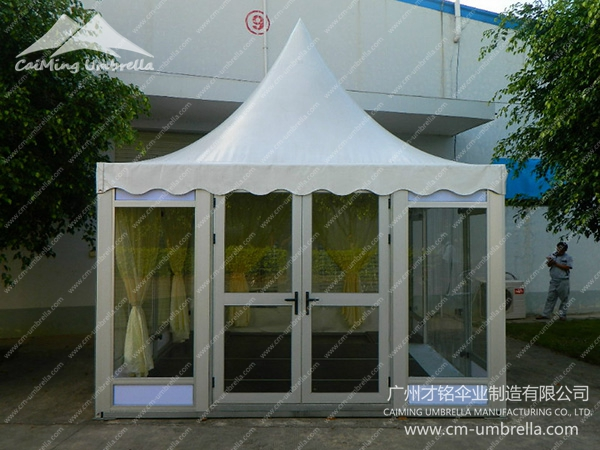 Pagoda Tent With Glass Windows