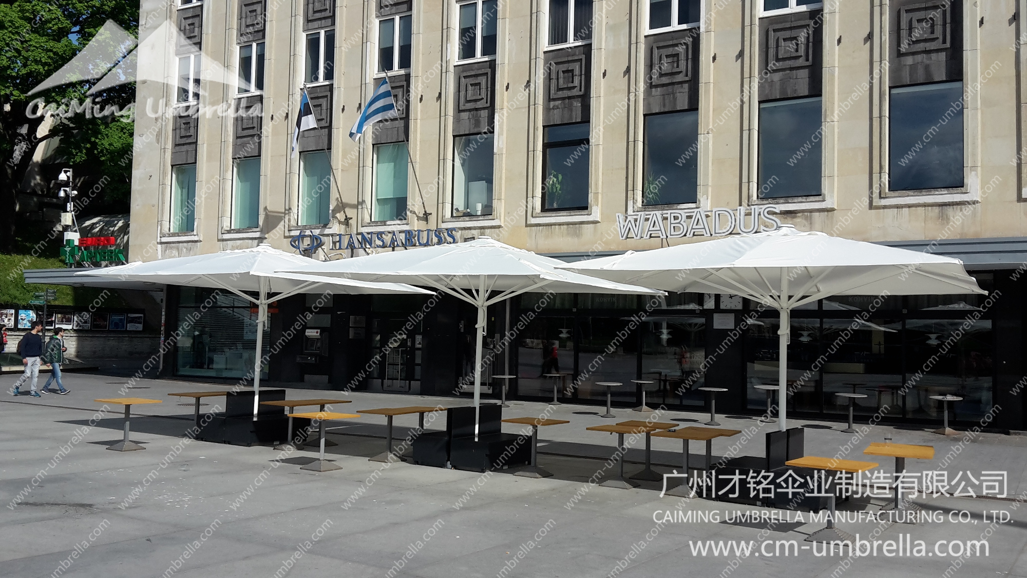 Centre pole parasol Premium With Tippet