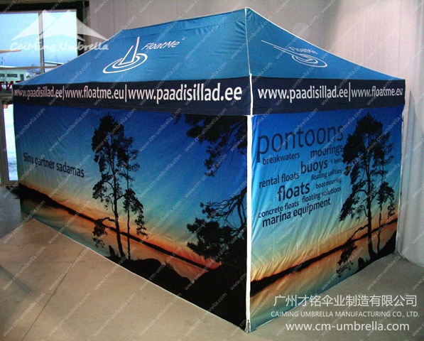 Flat Topped Four Angle Umbrella With Curtains