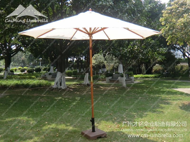 Wooden Stele Umbrella Market Umbrella