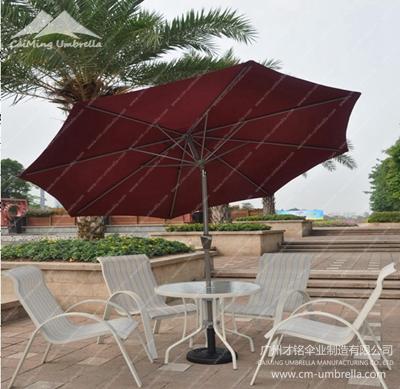 Oblique Deformation Aluminum Stele Umbrella Market Umbrella